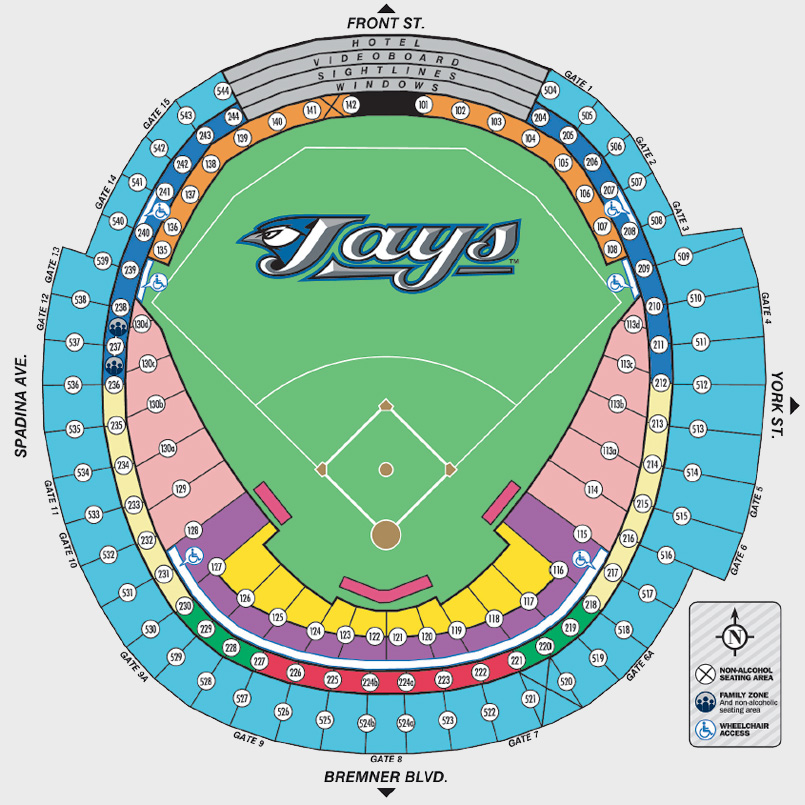 roger center seat chart: Roger center seat chart rogers centre seating chart ratelco com
